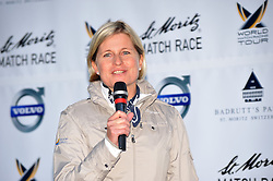 Ariane Ehrat,CEO Engadin-St. Moritz Tourist Organisation at the opening ceremony for the St.Moritz Match  Race. Photo:Chris Davies/WMRT