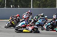 #24 Tatsuki SUZUKI JPNSIC58 Squadra Corse Honda crashes in Moto3 race during the Gran Premi Monster Energy de Catalunya at Circuit de Barcelona – Catalunya, Barcelona, Spain on 16 June 2019.