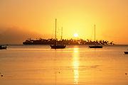 Sailboats, Bora Bora, French Polynesia<br />