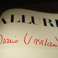 """VENICE, ITALY - MARCH 09:  A signature of Diana Vreeland is seen on a copy of the magazine Allure at the press preview of """"Diana Vreeland After Diana Vreeland"""" at Palazzo Fortuny on March 9, 2012 in Venice, Italy. This is the first major exhibition to be dedicated to Diana Vreeland. Open until June 25th it will explore the many sides of her work and seek to offer a fresh approach with which to interpret the elements of her style and thinking."""