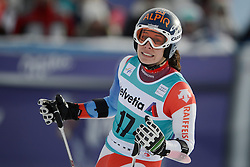 09.12.2012, Engiadina Rennstrecke, St. Moritz, SUI, FIS Ski Alpin Weltcup, Riesenslalom, Damen, 2. Lauf, im Bild Dominique Gisin (SUI) im Ziel reacts // after her 2nd run of ladies Super G of FIS ski alpine world cup at the Engiadina course, St. Moritz, Switzerland on 2012/12/09. EXPA Pictures © 2012, PhotoCredit: EXPA/ Freshfocus/ Andreas Meier..***** ATTENTION - for AUT, SLO, CRO, SRB, BIH only *****