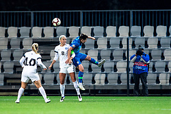 Kairi Himanen of Estonia and Manja Rogan of Slovenia during football match between Slovenia and Estonia in Qualification for UEFA Women's Euro 2022, on December 1, 2020 in Arena Bonifika, Koper, Slovenia. Photo by Matic Klansek Velej / Sportida