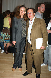 SEBASTIAN CONRAN and GERTRUDE THOME at a party at The Sanderson Hotel on 9th June 2005 to launch 50 Gramercy Park North - Ian Schrager's show-stopping new residential project in New York City. Schrager, with the help of UK architect John Pawson, is building a block of 23 original residences facing Gramercy Park, inbetween two blocks of the Gramercy Park Hotel. <br />