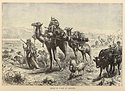 Arabs in Plain of Jericho From the book 'Those holy fields : Palestine, illustrated by pen and pencil' by Manning, Samuel, 1822-1881; Religious Tract Society (Great Britain) Published in 1874