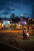 Evening in Puerto Ayora Town, Santa Cruz Island, Galapagos Islands, Ecuador, South America