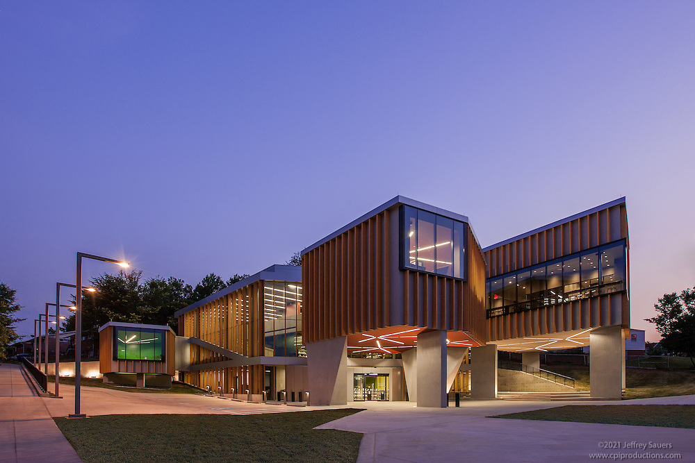 Architectural Exterior Image of the Washington Highlands Library by Jeffrey Sauers of Commercial Photographics