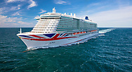File image of P&O Cruises newest ship, Iona, which will be named in a ceremony in Southampton on Sunday 16th May; 2021 by Dame Irene Hays DBL DL of Hays Travel, the ship's godmother.<br /> Image provided free for editorial use.<br /> Picture date: Monday June 1, 2020.<br /> Photograph by Herman IJsseling, Flying Focus.