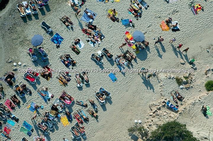 aerial view of Las Salinas, topless, Beach, Ibiza Spain