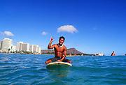Surfer, Waikiki, Oahu, Hawaii