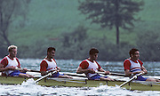 Lucerne, SWITZERLAND GBR M4+. bow Steve TURNER, Salih HUSSAIN, John GARRETT, and coa Adrian ELLISON, 1992 FISA World Cup Regatta, Lucerne. Lake Rotsee.  [Mandatory Credit: Peter Spurrier: Intersport Images] 1992 Lucerne International Regatta and World Cup, Switzerland