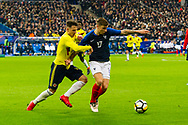 Santiago Arias (col) and Lucas Digne (fra) during the International Friendly Game football match between France and Colombia on march 23, 2018 at Stade de France in Saint-Denis, France - Photo Pierre Charlier / ProSportsImages / DPPI
