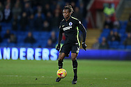 Gaetan Bong of Brighton & Hove Albion in action.EFL Skybet championship match, Cardiff city v Brighton & Hove Albion at the Cardiff city stadium in Cardiff, South Wales on Saturday 3rd December 2016.<br /> pic by Andrew Orchard, Andrew Orchard sports photography.