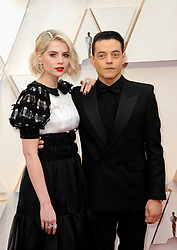 Rami Malek and Lucy Boynton at the 92nd Academy Awards held at the Dolby Theatre in Hollywood, USA on February 9, 2020.