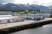 Quayside of port of Sandnessjoen,  Nordland, Norway