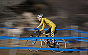 SHOT 1/12/14 1:40:45 PM - A competitor warms up for the Men's Elite race at the 2014 USA Cycling Cyclo-Cross National Championships at Valmont Bike Park in Boulder, Co.  (Photo by Marc Piscotty / © 2014)