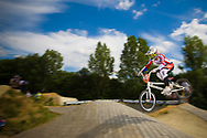 #41 (SUVOROVA Natalia) RUS at the 2014 UCI BMX Supercross World Cup in Berlin, Germany.