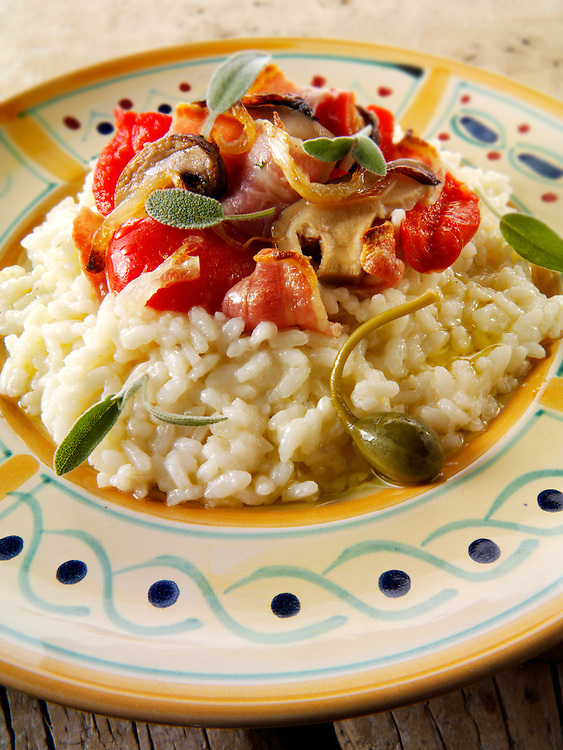 risotto with roast vegetables
