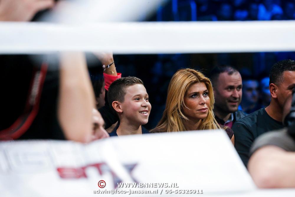 CRO/Zagreb/20130315- K1 WGP Final Zagreb, Estelle Cruijff en zoon joelle