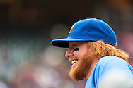 Justin Turner #2 of the New York Mets looks on before a game against the Minnesota Twins on April 13, 2013 at Target Field in Minneapolis, Minnesota.  The Mets defeated the Twins 4 to 2.  Photo: Ben Krause