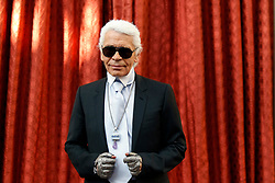 German fashion designer Karl Lagerfeld attends a ceremony where he received the Commander's Cross of the Legion of Honour (Croix de Commander de la Legion d'Honneur) at the Elysee Palace in Paris, France on June 3, 2010. Photo by Jacky Naegelen/Pool/ABACAPRESS.COM