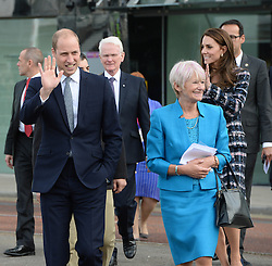 The Duke (centre left) and Duchess (2nd right) of Cambridge during a tour of the University of Manchester to view the National Graphene Institute during a day of engagements in Manchester.