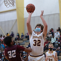Rehoboth Lynx Jake Zylstra (32) takes a shot in the paint against Shiprock Chieftains Tuesday at Rehoboth Christian School in Rehoboth.