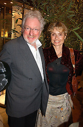 Actress MARYAM D'ABO and her husband HUGH HUDSON at a party to celebrate 100 years of Chinese Cinema hosted by Shangri-la Hotels and Tartan Films at Asprey, New Bond Street, London on 25th April 2006.<br /><br />NON EXCLUSIVE - WORLD RIGHTS