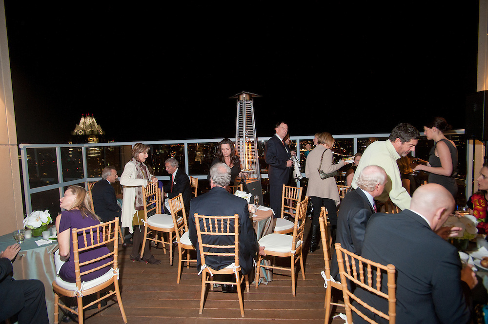 The Four Seasons Residences Austin hosted a party Friday night for current, future and prospective residents. Guests were able to dine on the deck, which offers a view of downtown.