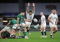 Rugby  Union - 2020 Autumn Nations Cup - Group A - England vs Ireland - Twickenham<br /> <br /> Jonny Hill of England charges down the ball<br /> <br /> COLORSPORT/ANDREW COWIE