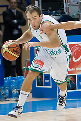Samo Udrih (6) of Slovenia during the basketball match at 1st Round of Eurobasket 2009 in Group C between Slovenia and Serbia, on September 08, 2009 in Arena Torwar, Warsaw, Poland. Slovenia won 84:76. (Photo by Vid Ponikvar / Sportida)