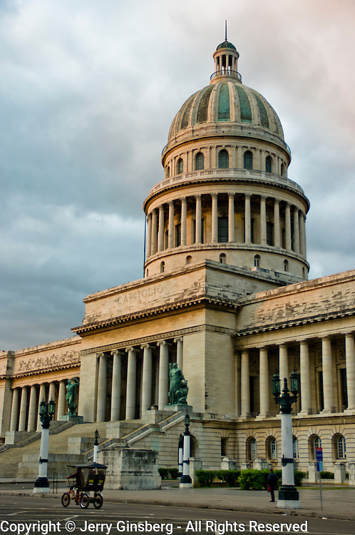 Cuba's Capitolio Nacional, former National Capitol in Central Havana, Havana Centro, Habana Centro, Centro Habana, Cuba.