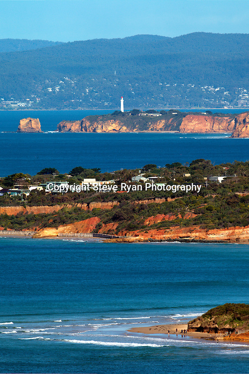 Aries inlet as seen from Anglesea , Point Roadknight in the foreground