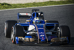 February 27, 2017 - MARCUS ERICSSON (SWE) drives in his Sauber C36-Ferrari on the track during day 1 of Formula One testing at Circuit de Catalunya, Spain (Credit Image: © Matthias Oesterle via ZUMA Wire)