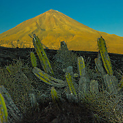"""Towering El Misti Volcano on the edge of the """"White City"""" of Arequipa, Peru."""