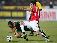 v.l. Houssine Kharja, Kamel Ahmed Hasan Aegypten                <br /> Africa Cup 2006 Aegypten - Marokko<br /> Egypt - Marokko<br /> Norway only