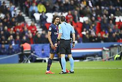 February 9, 2019 - Paris, France - Edinson Cavani ( PSG ) altercation avec Ruddy Buquet  (Credit Image: © Panoramic via ZUMA Press)