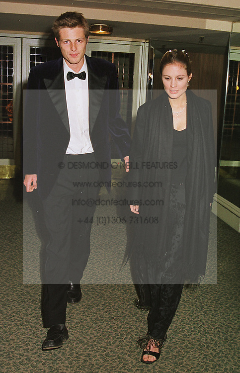MISS SHEHERAZADE VENTURA and her fiance MR ZAC GOLDSMITH son of the late Sir James Goldsmith, at a dinner in London on 23rd February 1999.MOR 65