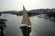 Felucca on Nile River  Aswan, Egypt