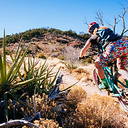 Heather Goodrich riding single track near Albuquerque, New Mexico.