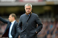 Jose Mourinho, the Chelsea manager looks dejected during the 1st half. Barclays Premier League, West Ham Utd v Chelsea at The Boleyn Ground, Upton Park in London on Saturday 24th October 2015.<br /> pic by John Patrick Fletcher, Andrew Orchard sports photography.