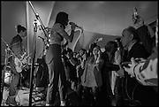 Julia Peyton-Jones, Hans Ulrich Obrist and Coach host the Serpentine Future Contemporaries Party. Serpentine Sackler Gallery. Kensington Gdns. London. 21 February 2015