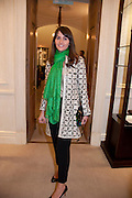 TANIA FARES, Smythson Royal Wedding exhibition preview. Smythson together with Janice Blackburn has commisioned 5 artist designers to create their own interpretations of  Royal wedding memorabilia. Smythson. New Bond St. London. 5 April 2011.  -DO NOT ARCHIVE-© Copyright Photograph by Dafydd Jones. 248 Clapham Rd. London SW9 0PZ. Tel 0207 820 0771. www.dafjones.com.
