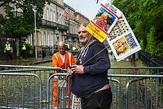 Anti-POTUS protest damp squib, Edinburgh, 13 July 2018