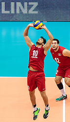 09.06.2017, TipsArena, Linz, AUT, FIVB, World League, Mexiko vs Spanien, Division III, Gruppe C, Herren, im Bild Pedro Rangel (MEX), Jose Martinez (MEX) // Pedro Rangel (MEX), Jose Martinez (MEX) during the men's FIVB, Volleyball World League, Division III, Group C match between Mexico and Spain at the TipsArena in Linz, Austria on 2017/06/09. EXPA Pictures © 2017, PhotoCredit: EXPA/ JFK