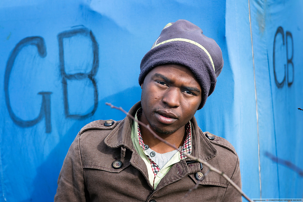 Calais, March 05, 2015, Ahmed is a 18yr old Sudanese refugee from Darfur, where he escaped war 3 yrs ago and end up in Lybia. After that period he crossed mediteranean by a little boat with 120 other refugees to end up in Lampedusa. Since 10 days he's staying at Calais and try to reach UK, where he hopes to be able to study for an IT engineer.