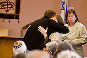 tucsonshooting - 09 JANUARY 2011 - TUCSON, AZ: Rabbie Stephanie Aaron hugs a member of Congregation Chaverim during a healing in Tucson Sunday. Hundreds of people attended the healing service to pray for Congresswoman Gabrielle Giffords and other victims of the mass shooting that took place Saturday.   ARIZONA REPUBLIC PHOTO BY JACK KURTZ..RABBI's NAME IS NOT CQ