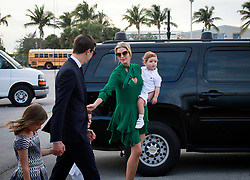 January 1, 2018 - Florida, U.S. - Ivanka Trump, Jared Kushner and their children make their way to Air Force One at Palm Beach International Airport in West Palm Beach Monday, January 1, 2018. (Credit Image: © Bruce R. Bennett/The Palm Beach Post via ZUMA Wire)