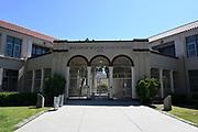 A general view of Woodrow Wilson High School amid the global coronavirus COVID-19 pandemic, Saturday, June 27, 2020, in Long Beach, Calif.