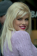 Anna Nicole Smith outside of Harry Winston's in Beverly Hills..Anti-fur campaign for PETA..Beverly Hills, CA.12/7/04..