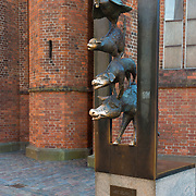 The monument of Bremen Town Musicians in Riga, Latvia
